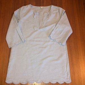 J. Crew Scalloped Swim cover up  Tunic- worn once